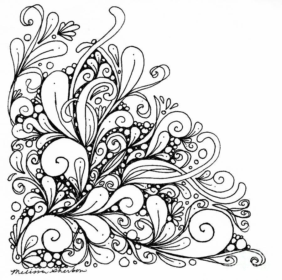 Flourish No.1 Drawing  - Flourish No.1 Fine Art Print