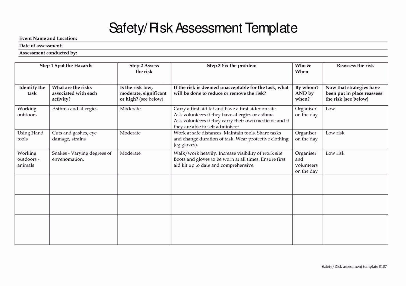 Audit Risk assessment Template in 2020 Risk management