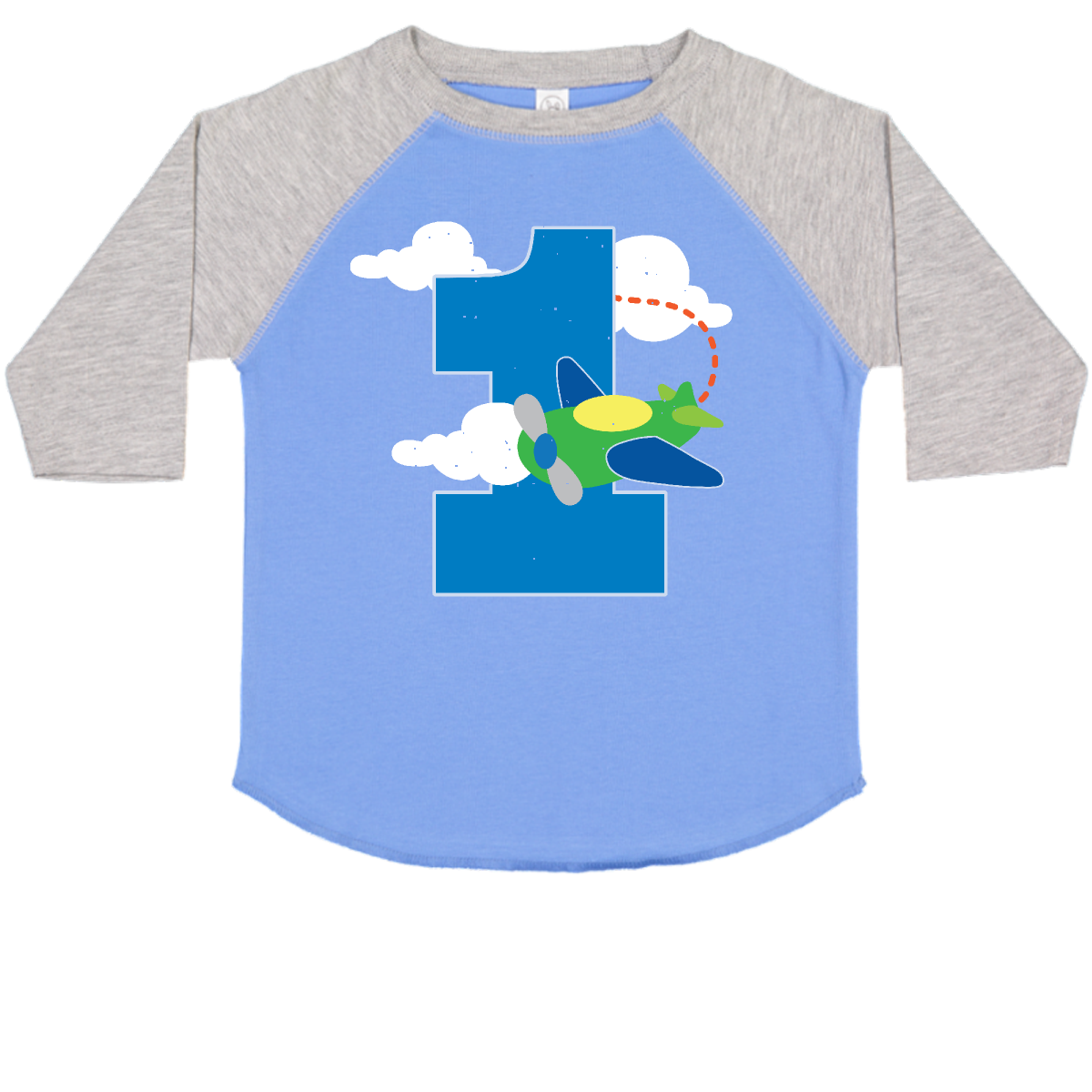 dd9e5022f 1st Birthday Airplane Pilot 1 Year Toddler T-Shirt Blue and Heather $17.99  www.homewiseshopperkids.com