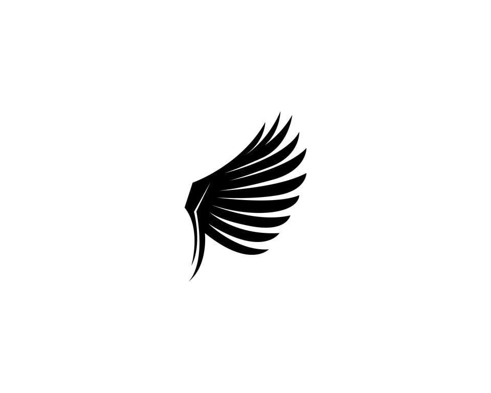 Wing Bird Logo Template Vector Logo Icons Bird Icons Template Icons Png And Vector With Transparent Background For Free Download Bird Logos Vector Logo Icons