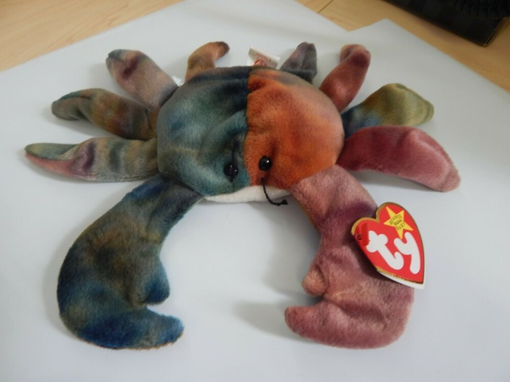 Ty Beanie Baby Claude the Crab, Retired Tye Dyed Crab