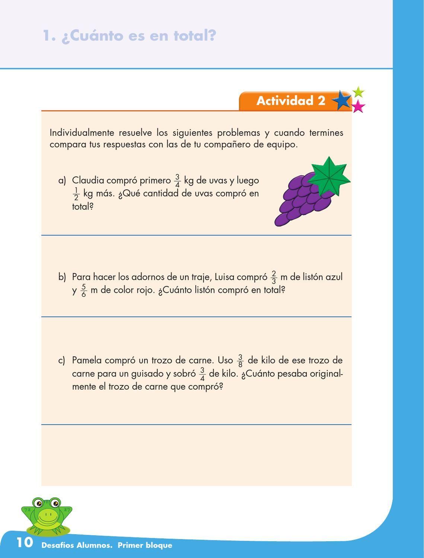 Desafio Alumnos 5o Interiores Desafio Matematico Matematicas Quinto Grado
