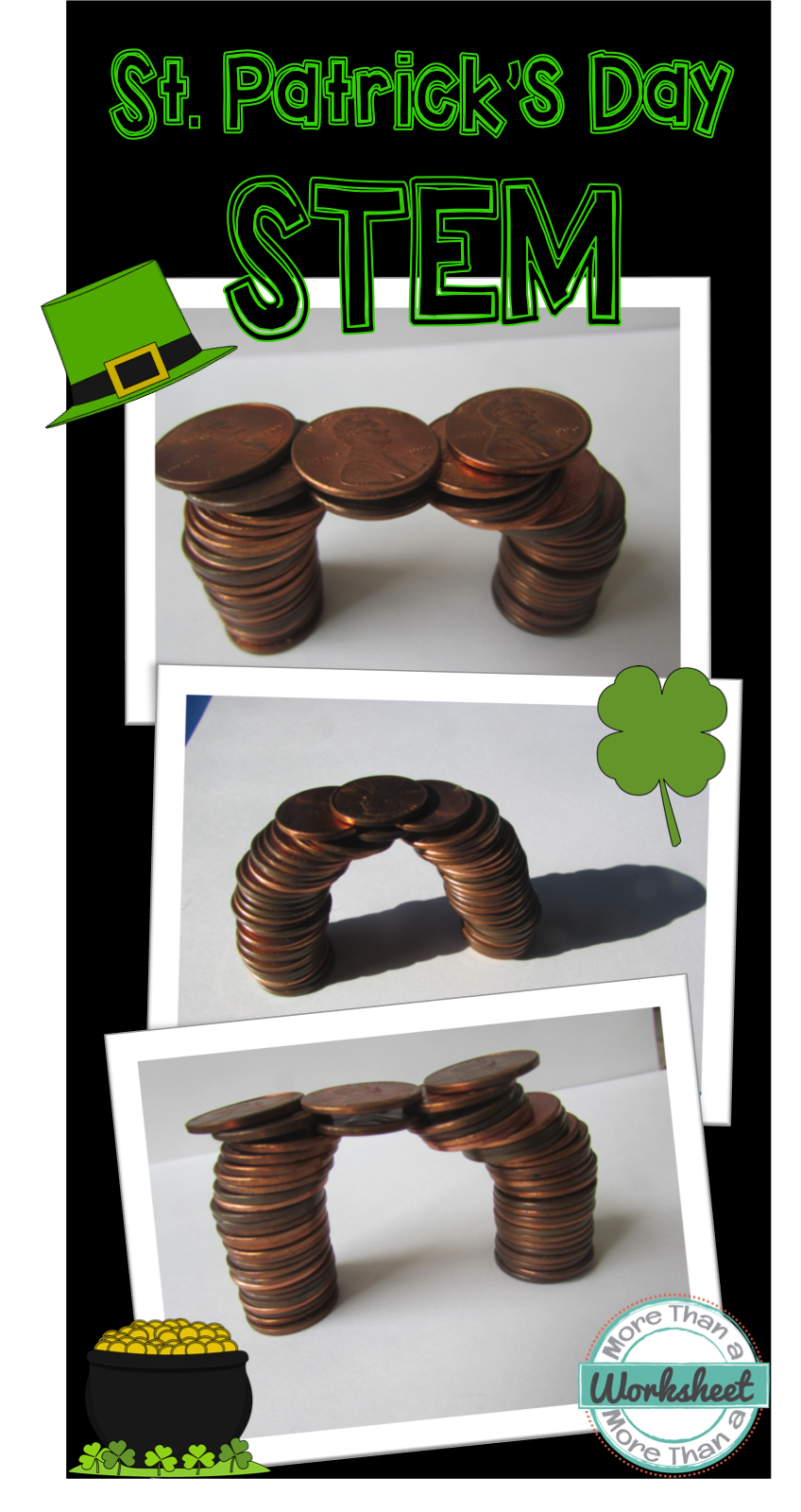 Stem Challenge St Patricks Day Stem Coin Bridge Stem