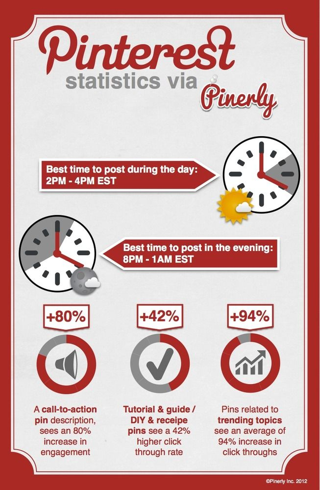 Infographics 5 Tips to Get Your Pinterest Pin Noticed [INFOGRAPHIC]  					Posted on April 9, 2012