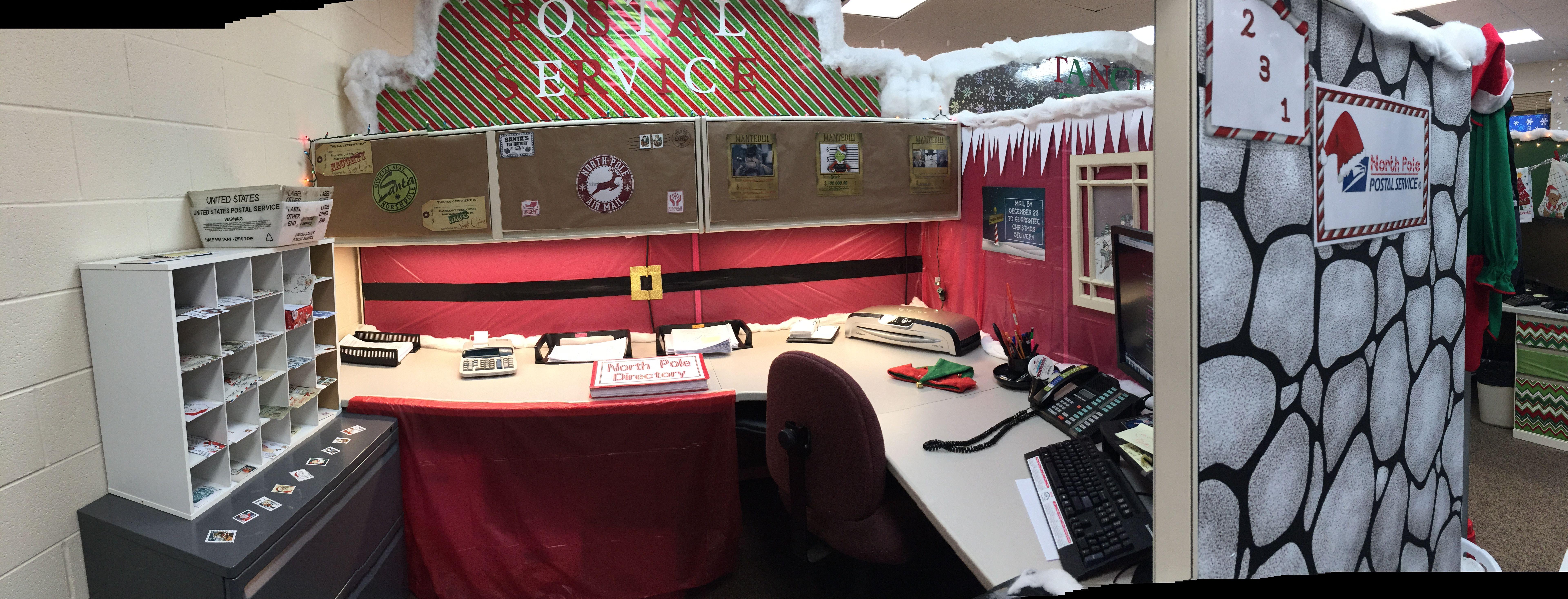 Santa s Village North Pole Post fice Cubicle Decor