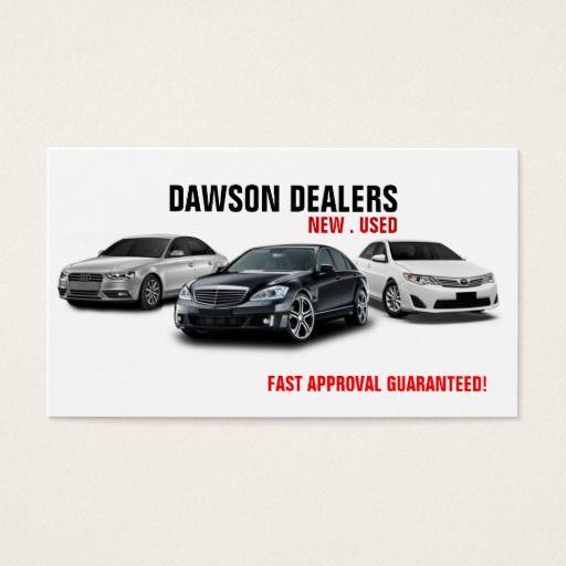 Auto Sale Dealership Cars Business Card Zazzle Com Cars For Sale Business Cards Dealership