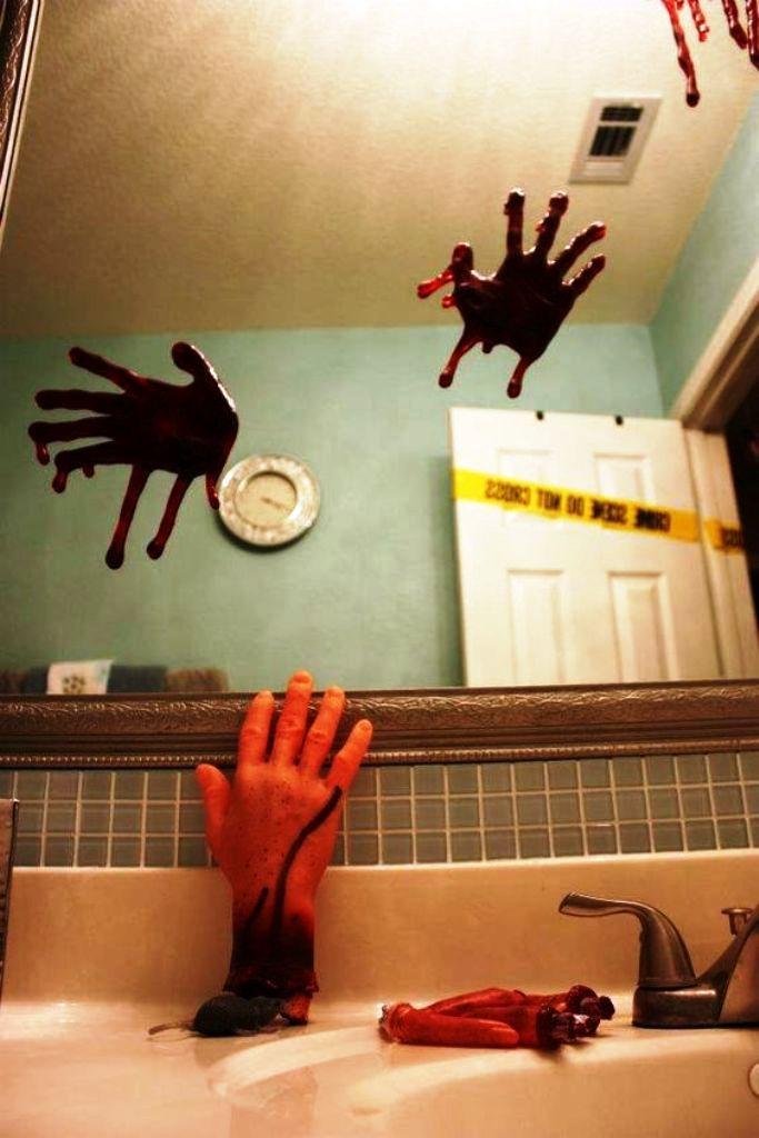 halloween dekorationen badezimmer um ihre gste zu verscheuchen decoration