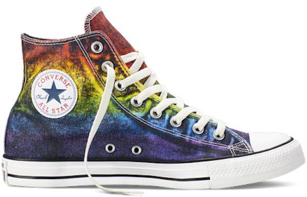 converse shoes rainbow