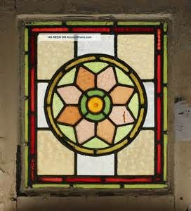 Fabulous Antique Stained Glass Window Eight Colors : Hand Blown ...
