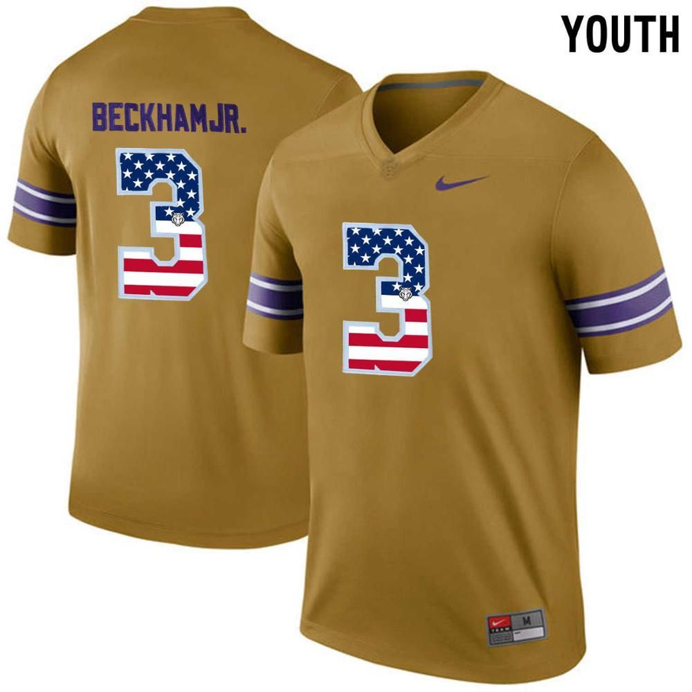 new style 31493 c2ec1 LSU Tigers Youth Odell Beckham Jr. #3 College Jersey ...