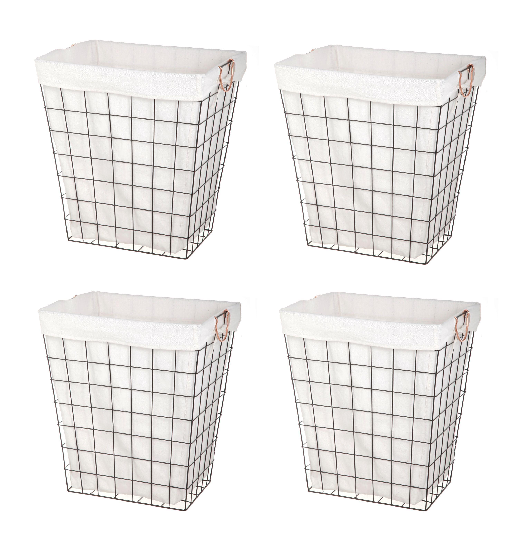 Better homesgardens bhg rectangle wire hamper 4pk