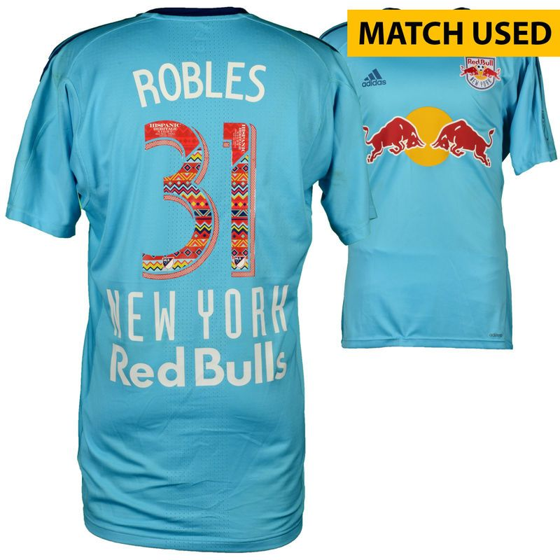 innovative design d9737 77415 Luis Robles New York Red Bulls Fanatics Authentic Match-Used ...