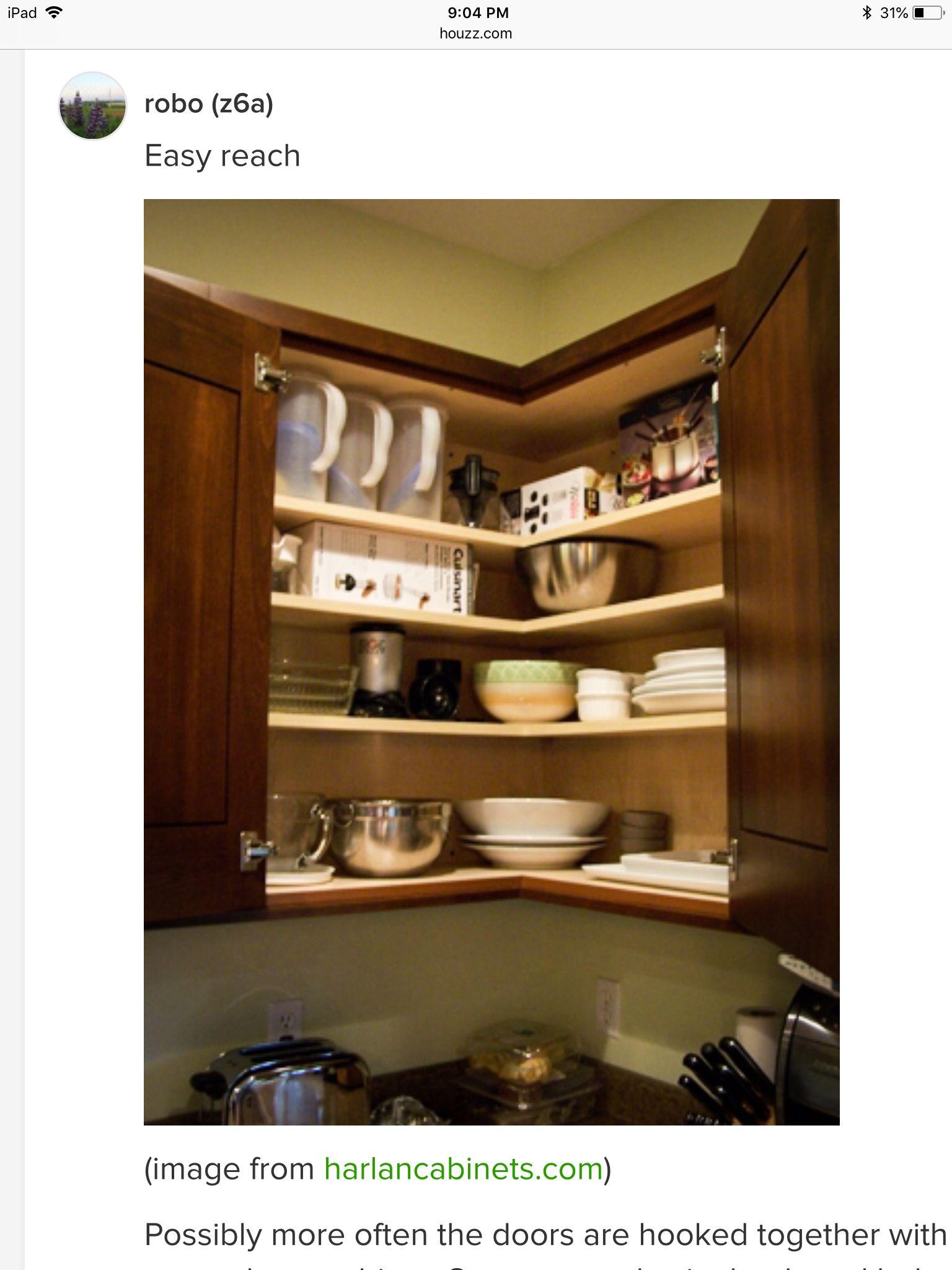 36 Easy Reach Corner Cabinet Kitchen Cabinet Storage Corner Kitchen Cabinet Kitchen Cabinets