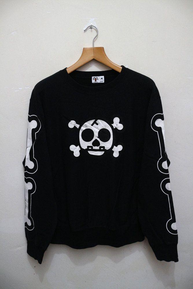 6f8591ba7 Vintage BABY MILO Bape A Bathing Ape Skull Hip Hop Swag Pullover Sweater  Sweatshirt by VintageClothingMall on Etsy