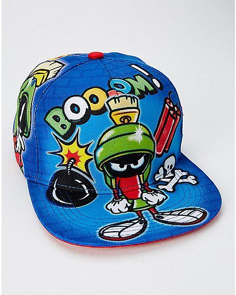 1f5bb75c211 Airbrush Marvin the Martian Snapback Hat - Looney Tunes - Spencer s ...