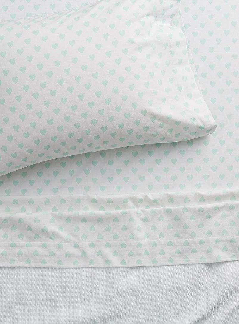Pastel Heart Flannel Sheet Set Habitat Shop Flannel Bed Sheets Online In Canada Simons Flannel Bed Sheets Bed Sheets Online Sheets