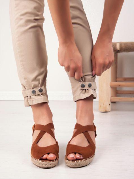 Goodin Sandaly Na Koturnie Biale Niebieskie Espadrilles Shoes Sandal Espadrille