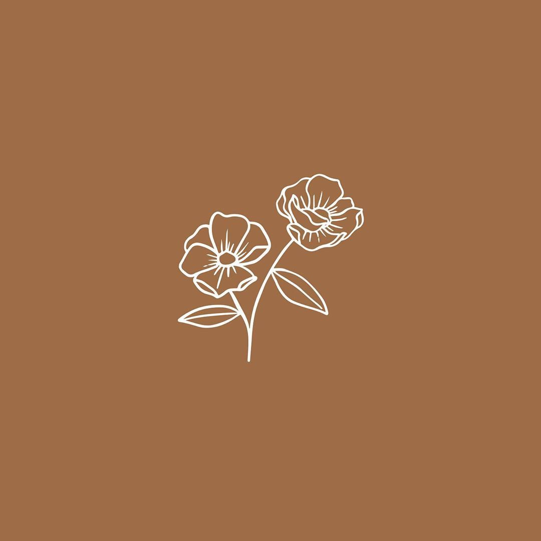 Floral Icon For Bar Oa Branding Design By Kambreedesign Aesthetic Iphone Wallpaper Flower Icons Floral Illustrations