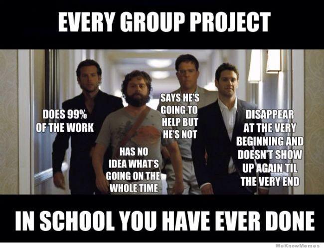 Typical School Projects Funny School Memes Teacher Humor