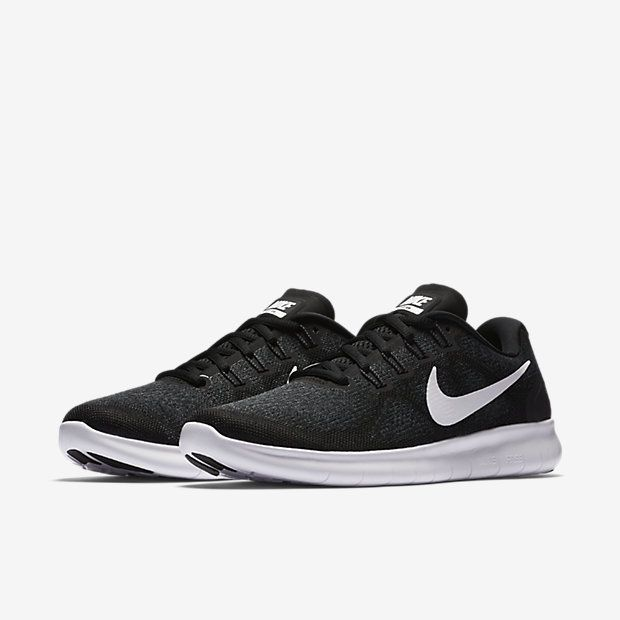 Nike Free RN 2017 Women's Running Shoe Black/Dark Grey/Anthracite/White