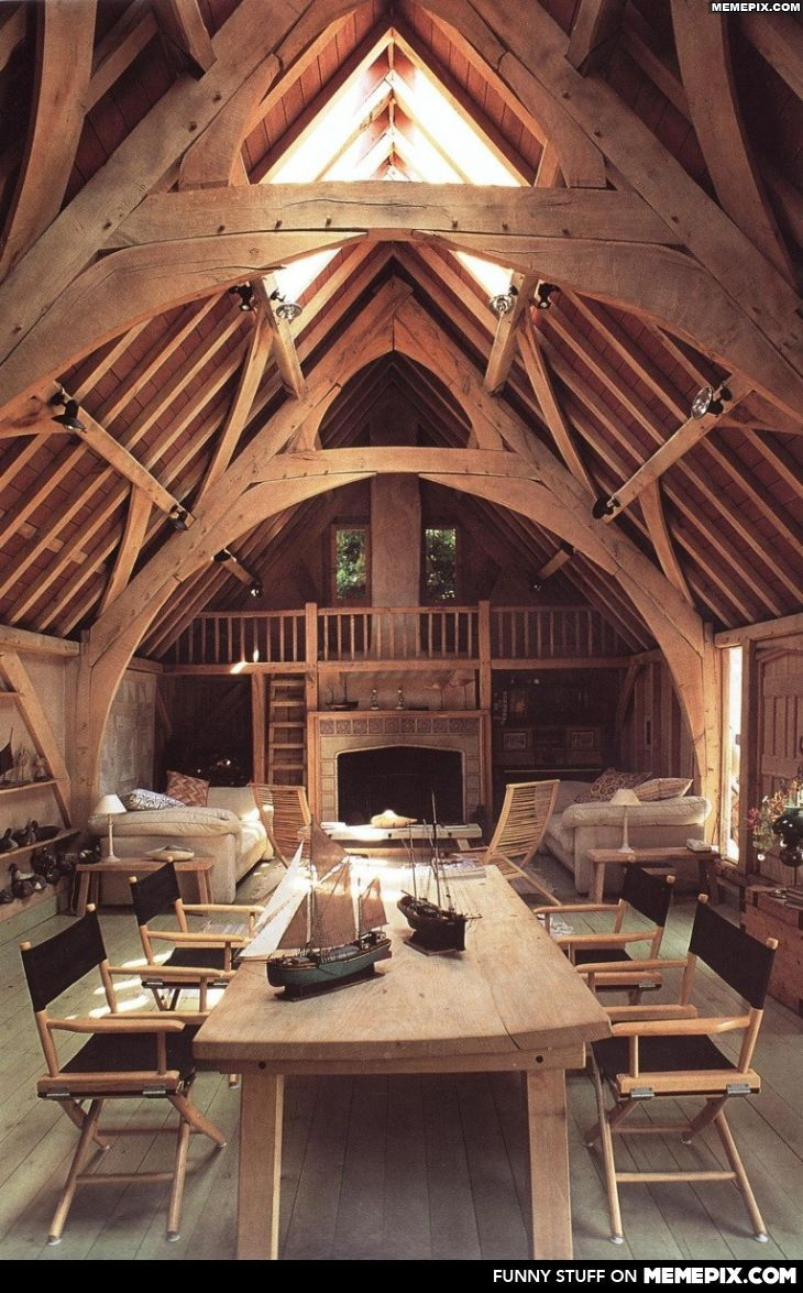 An oak timber framed house in Devon, England