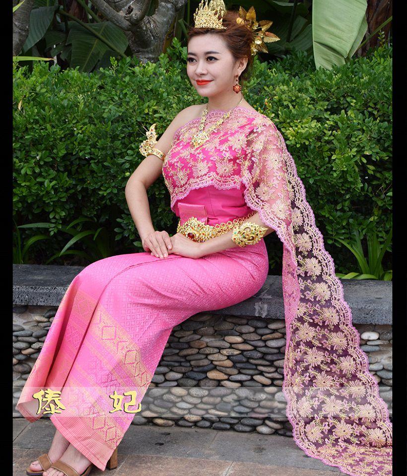 Encantador Trajes De Boda Khmer Componente - Colección de Vestidos ...