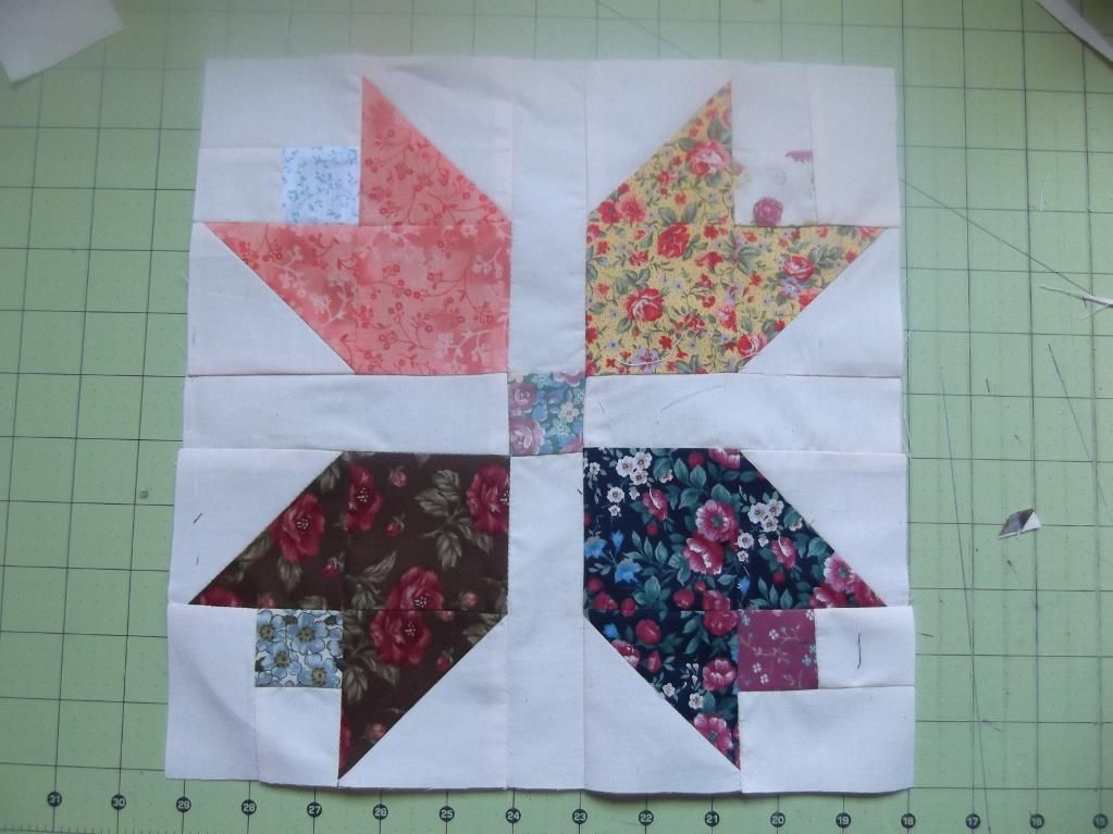 This Free Quilt Pattern Is The Scrappy Calico Tulip Quilt Block