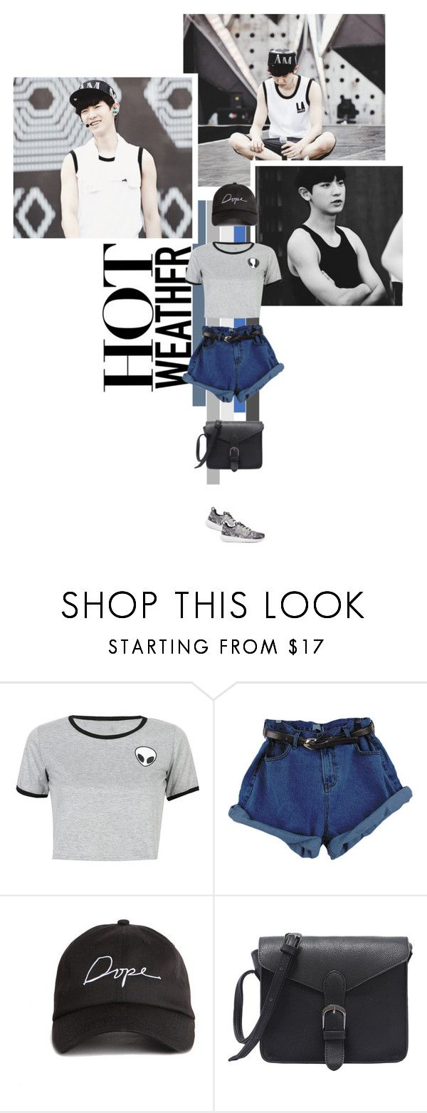 """Untitled #188"" by seoulmate00 ❤ liked on Polyvore featuring WithChic, NIKE, kpop, EXO, exok, chanyeol and parkchanyeol"