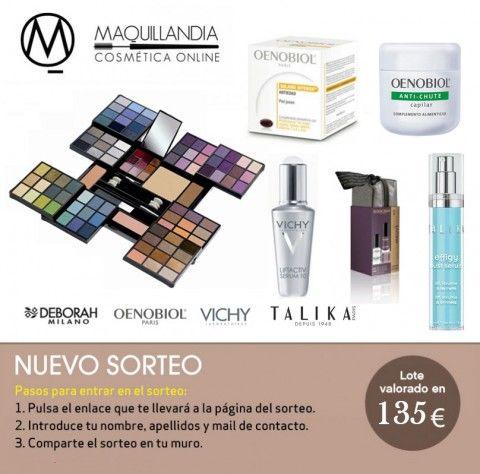 Sorteo lote de productos de belleza valorado en 135€