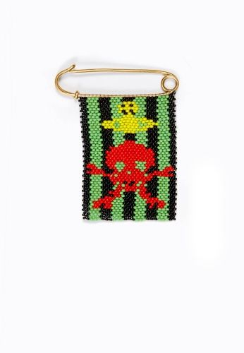 """Beaded Insect & Skull Pin is from our collaboration with the Ethical Fashion Initiative where everything is  """"Handmade with love"""" in Nairobi, and are produced in collaboration with the International Trade Centre (ITC)."""