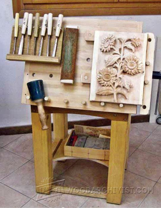 Tilting Carving Table Plans   Wood Carving Patterns And Techniques |  WoodArchivist.com
