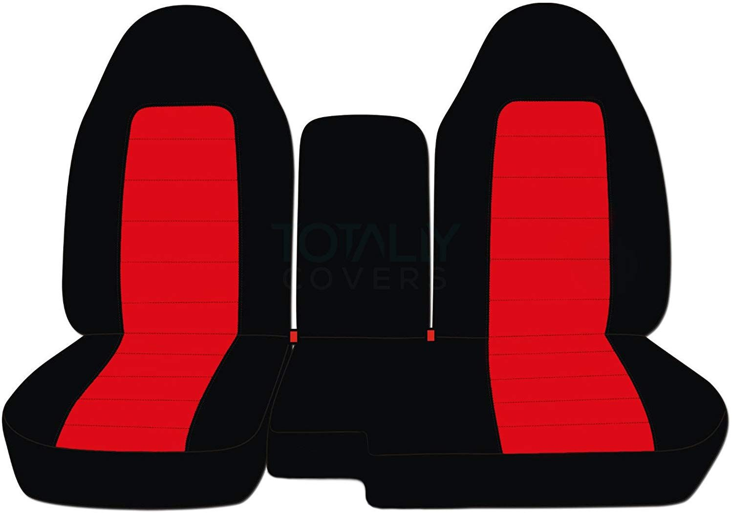 Designcovers 1998 2003 Ford Ranger Mazda B Series Two Tone Truck Seat Covers 60 40 Split Bench Center Cons Ford Ranger Truck Seat Covers Automotive Solutions