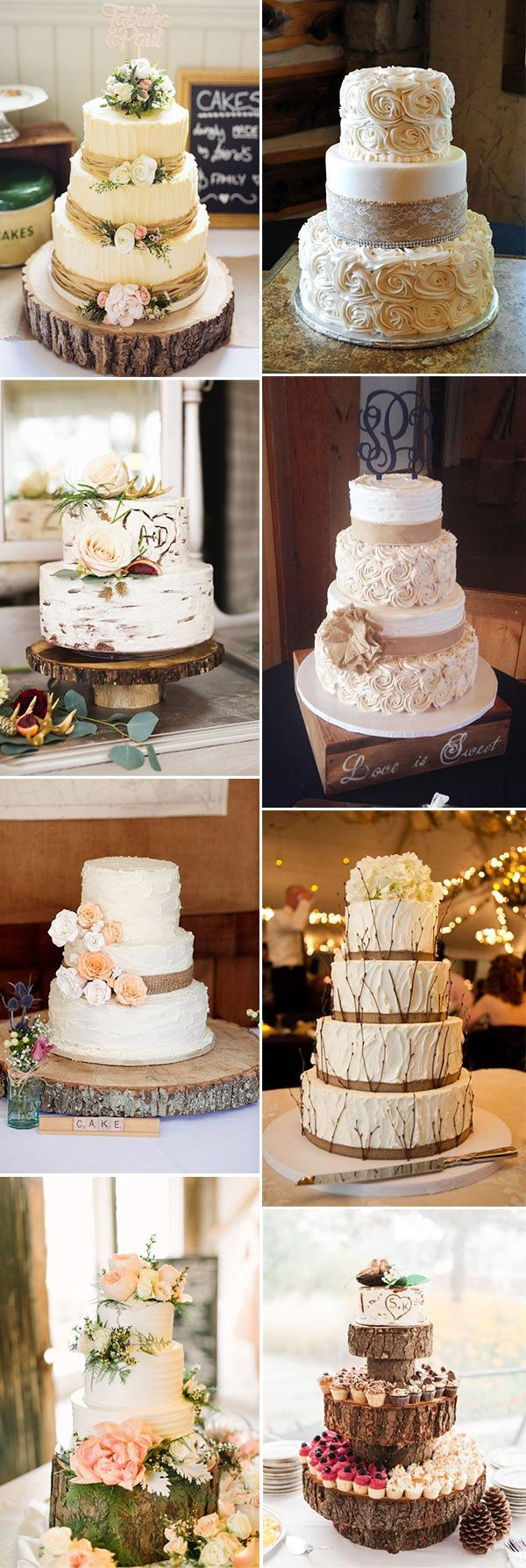 Wedding decorations hd  the best rustic wedding cake ideas  Backyard Wedding  Pinterest