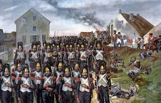 The Old Guard Advance. britishbattles.com