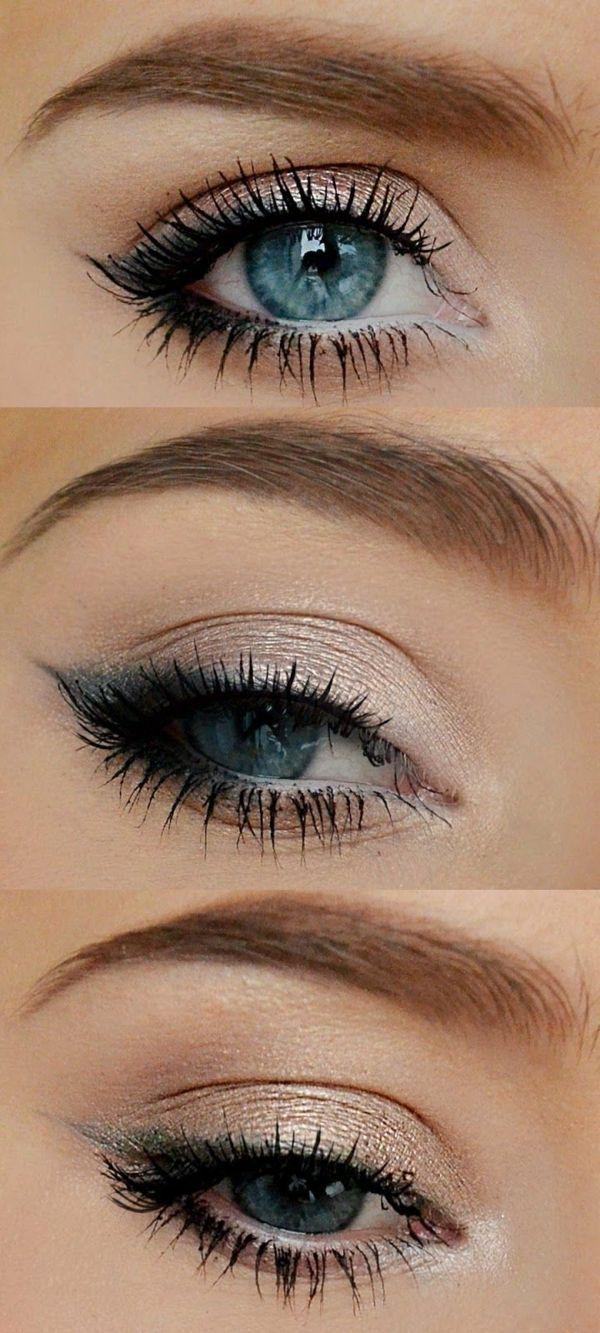 Dezentes Augen Make up - Schöne Tipps und Tricks