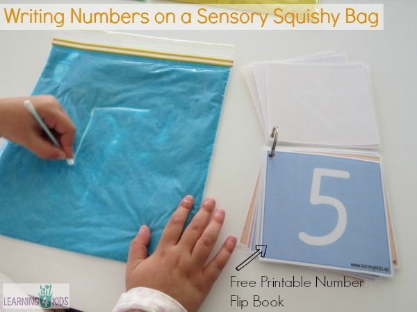 Pre-Writing Activities with Squishy Bags | Free printable numbers ...