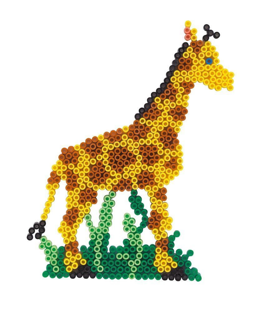 Rainbow Giraffe Hama Beads By Nicolebe85 56 X 49 Cm Bunte