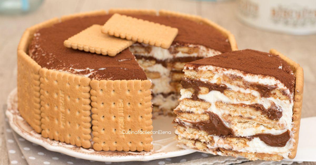 La torta millestrati mascarpone e Nutella è una torta biscotto fredda senza  cottura cremosa e velocissima da preparare, senza uova, golosissima! 4bed16a763