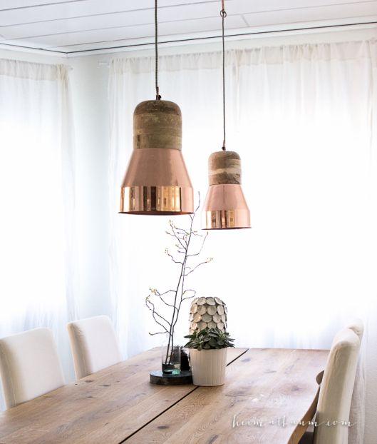 Skandinavische Küche weiß Holz schwarz-2 Essbereich Pinterest