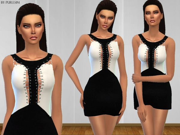 Sims 4 Clothing sets | Sims 4 | Sims 4 clothing, White dress