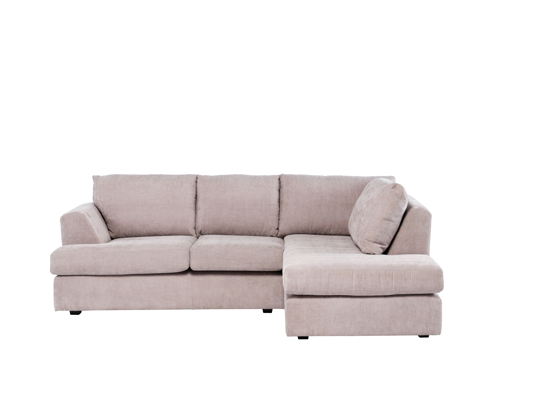 Erinne Fabric Left Hand Corner Sofa Group Grey at Homebase