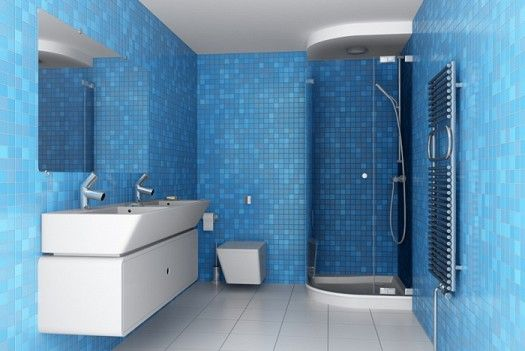 صور ديكور حمامات حديثة 2018 حمامات عصرية باللون الازرق 2018 With Images Bathroom Design Blue Bathroom Bathroom Paint Colors