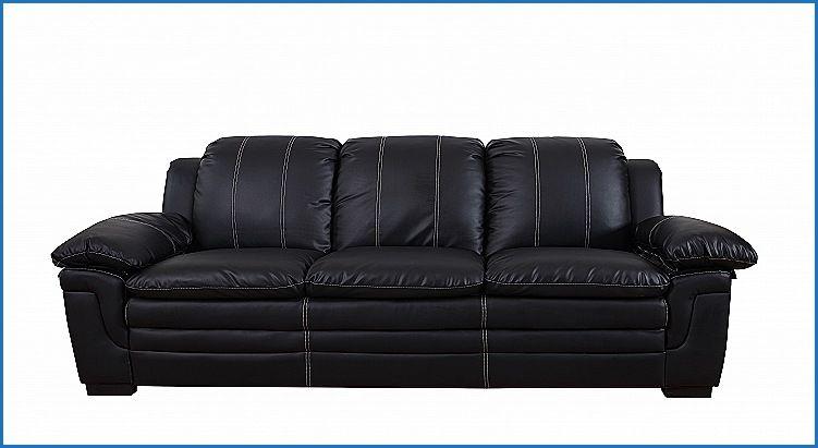 Beautiful Black Leather Sofa With White Stitching Black Leather