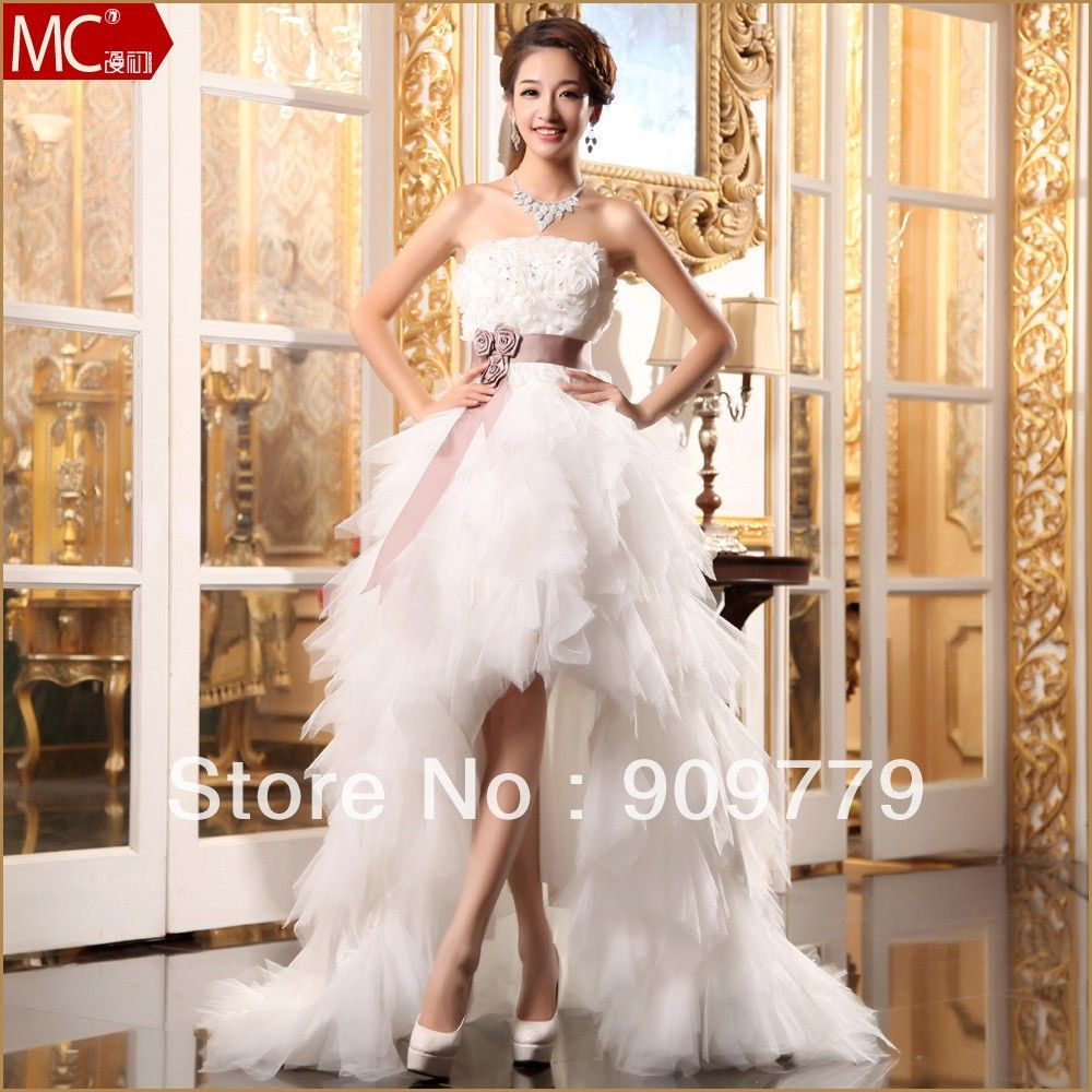Watch - Wedding Short dresses with long trains pictures video