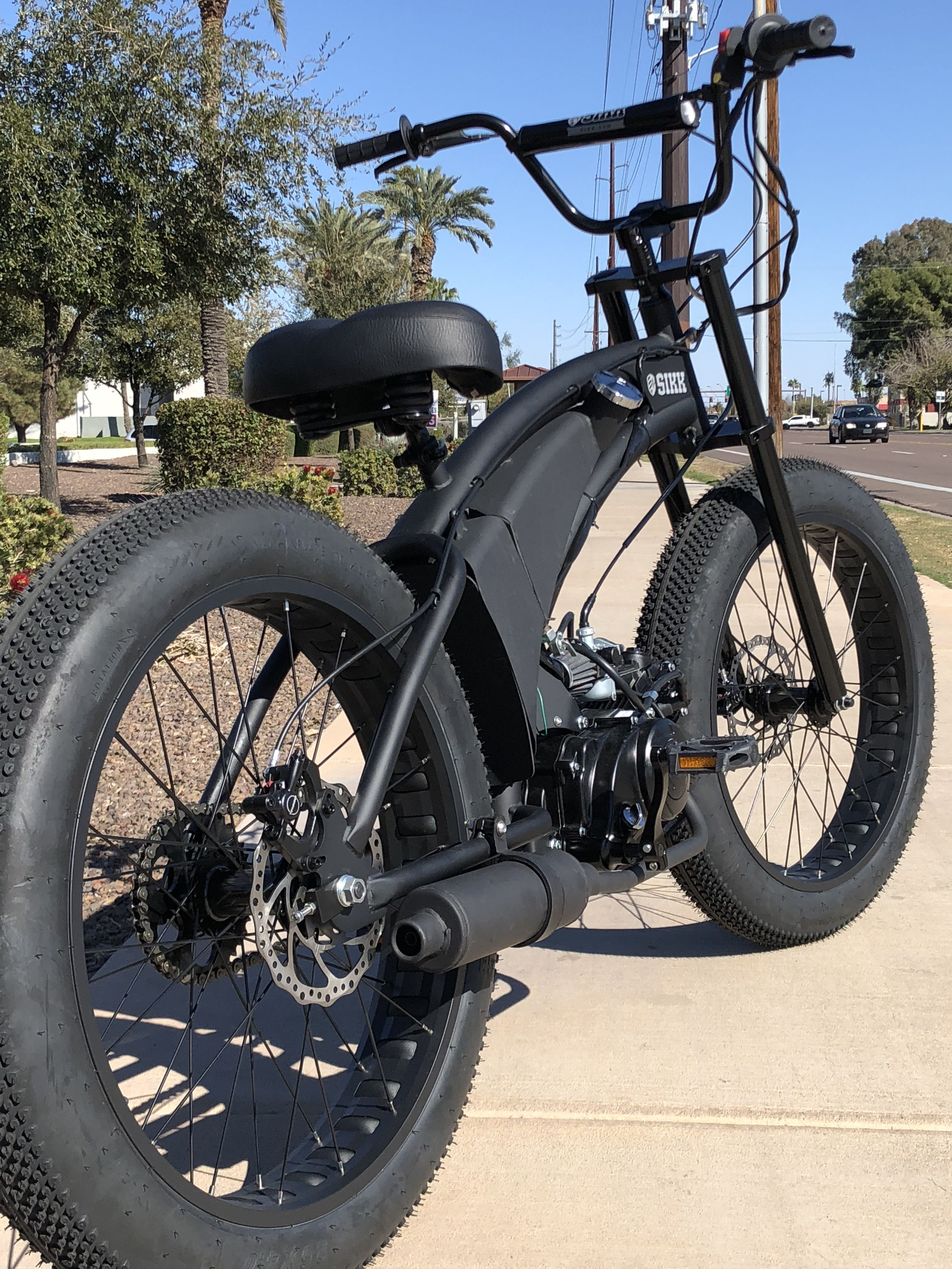 e7c7bf46c33 Introducing the awesome 2018 SIKKPED MOTORBIKE. 49cc four-stroke engine,  Electric start Pedals make it legal in most states as a Moped $1199  Available end ...