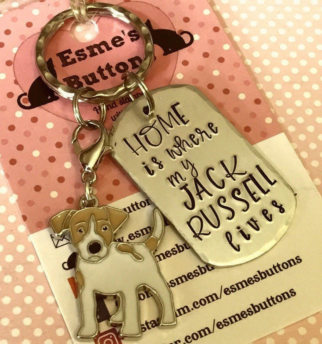 Home Is Where My Jack Russell Lives Dog Keyring Jack Russell Etsy Gifts For Pet Lovers Gifts For Dog Owners Owner Gifts