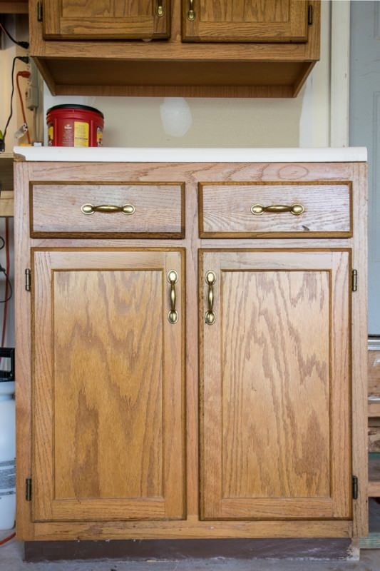 How To Remove Wood Grain Diy Kitchen Painting Cabinets Old