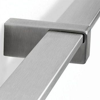 Best Stainless Steel Bar Handrail Bracket Flat Fix To Bar 400 x 300