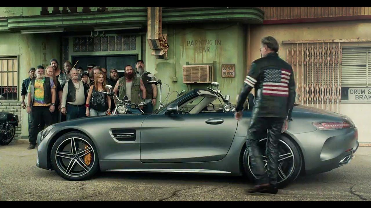 Super Bowl 2017 Mercedes Amg Gt C Roadster Born To Be Wild Mercedes Amg Roadster Mercedes