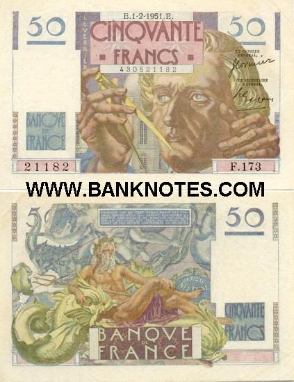 French Currency Banknotes Money Bank Notes Capricorn And Aquarius